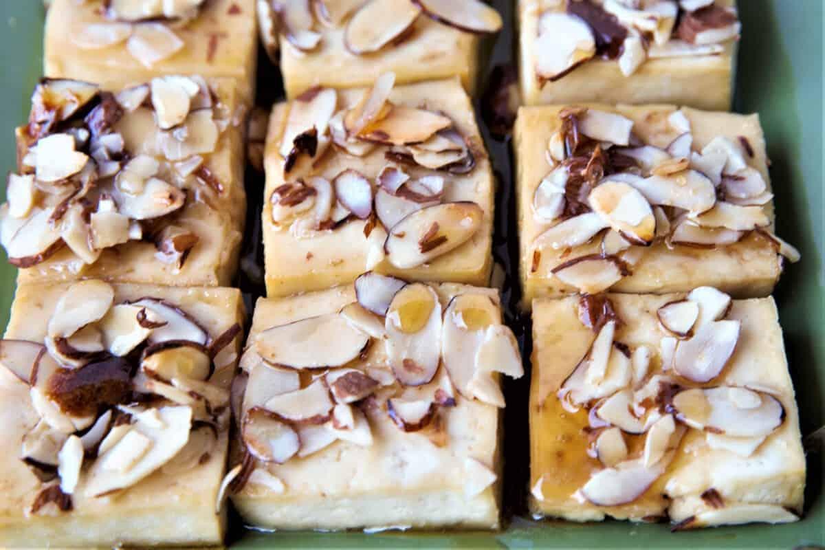 Maple Almond Crusted Tofu