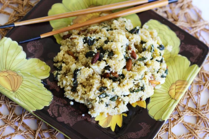 Quinoa Basil Stir-fry With Sweet Mango