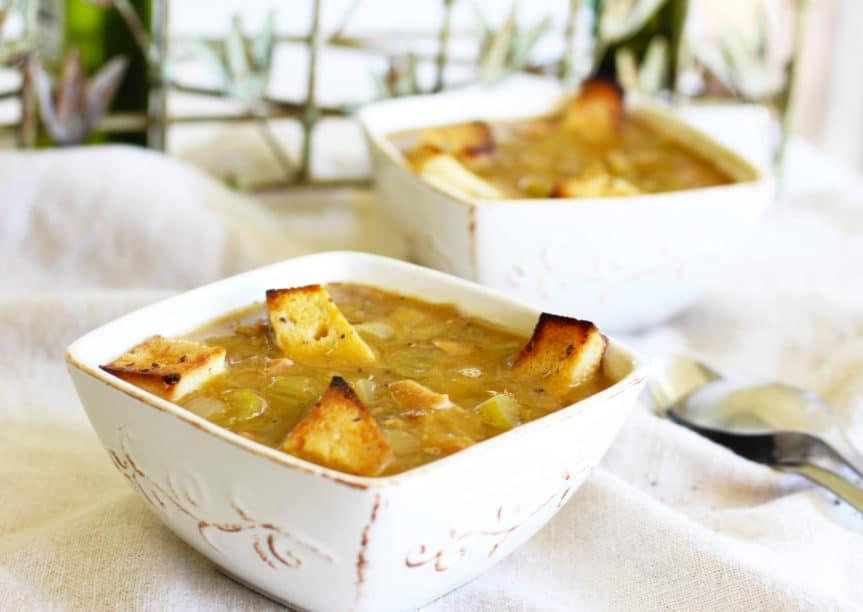 Vegan Crock Pot Split Pea Soup