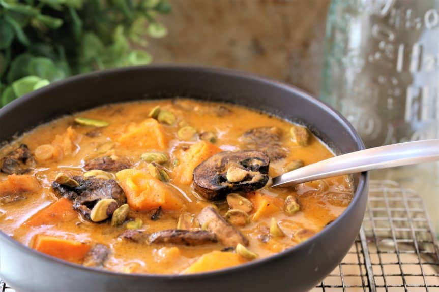 Roasted Squash Mushroom Soup