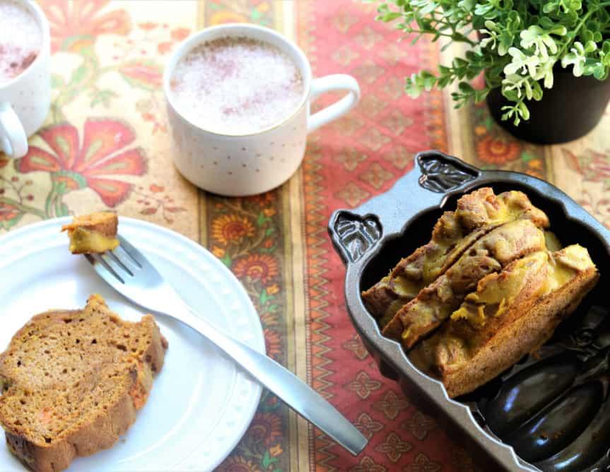 Sweet Potato Bread With Ginger Tumeric Glaze
