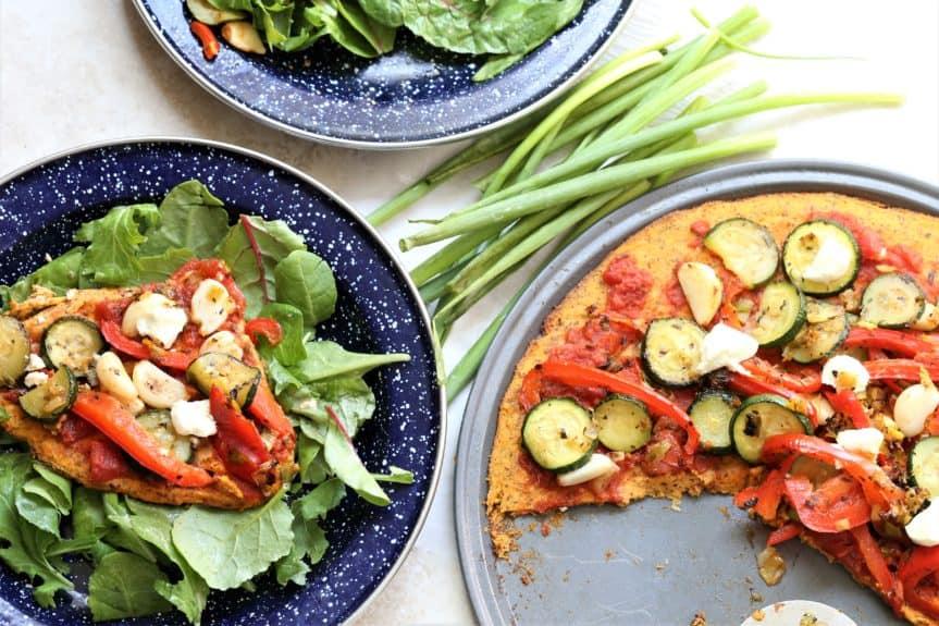 Sweet Potato Vegetable Pizza Salad