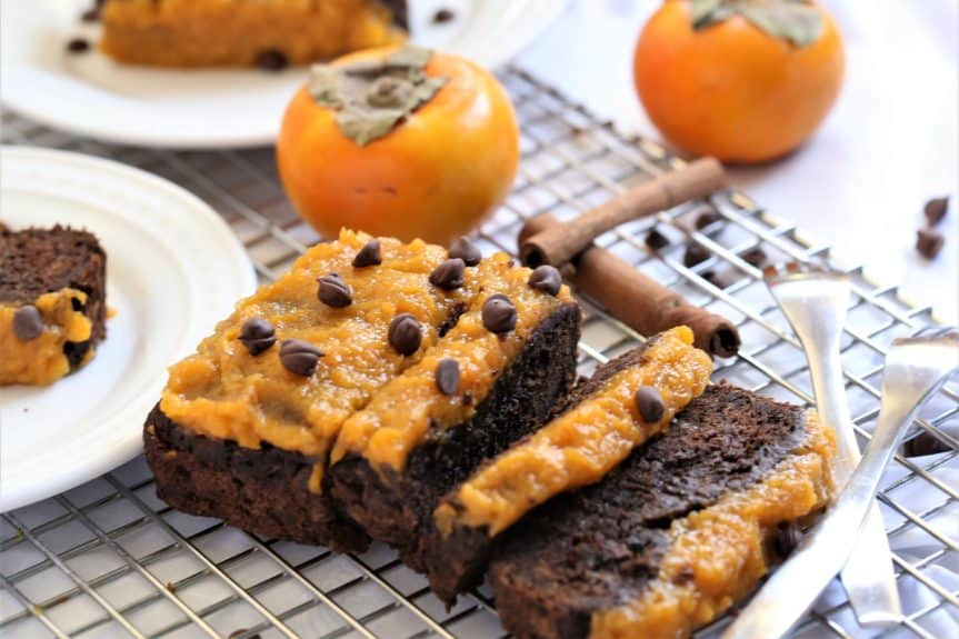 Chocolate Tea Cake With Whipped Persimmon