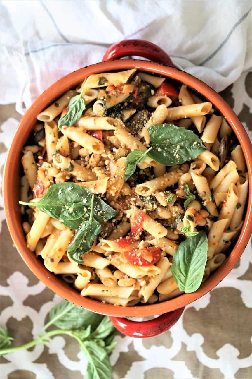 Instant Pot Spinach Mushroom Pasta