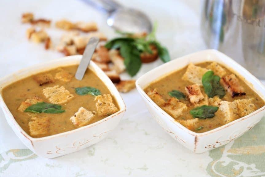 Instant Pot Butternut Squash, Bean & Kale Soup