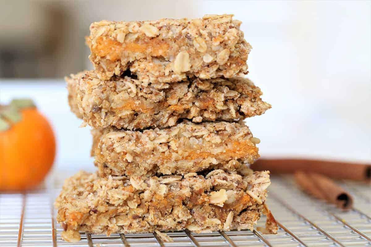 Oatmeal Persimmon Bars