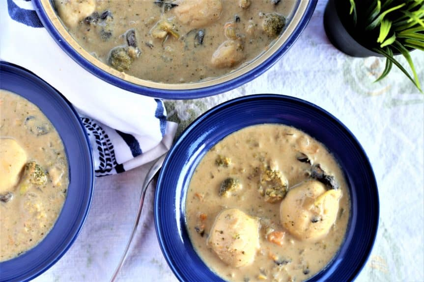 Cream of Vegetable Soup With Dumplings