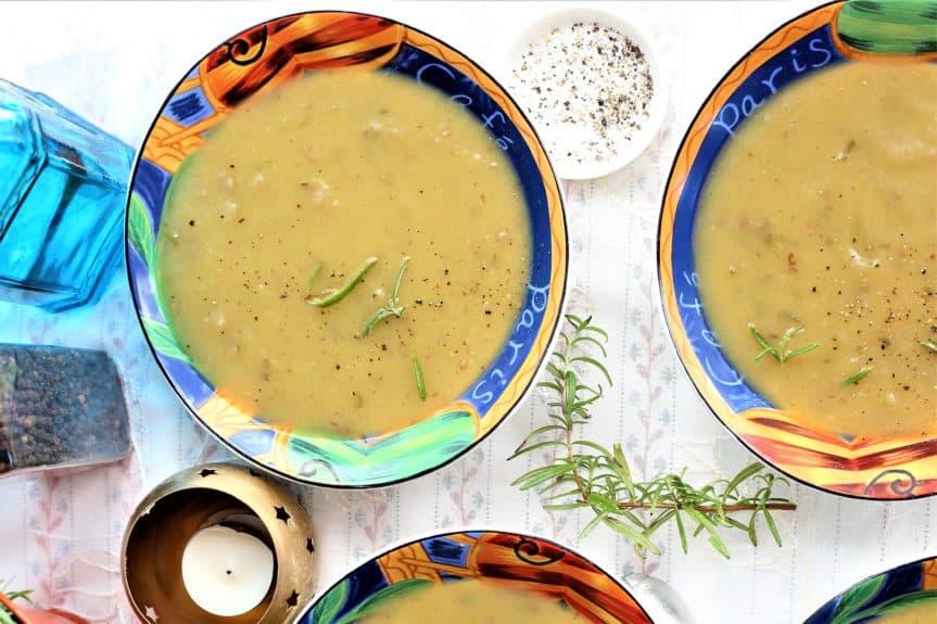 Creamy Rosemary Potato Soup-Instant Pot