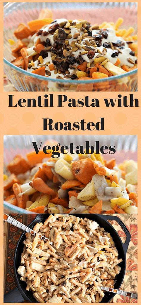 Lentil Pasta With Roasted Vegetables