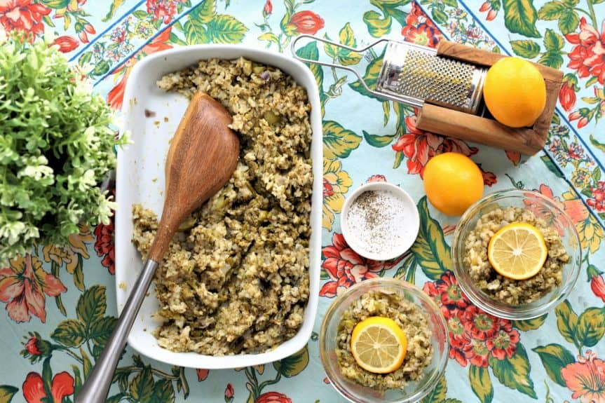 Lemon Pepper Broccoli Risotto