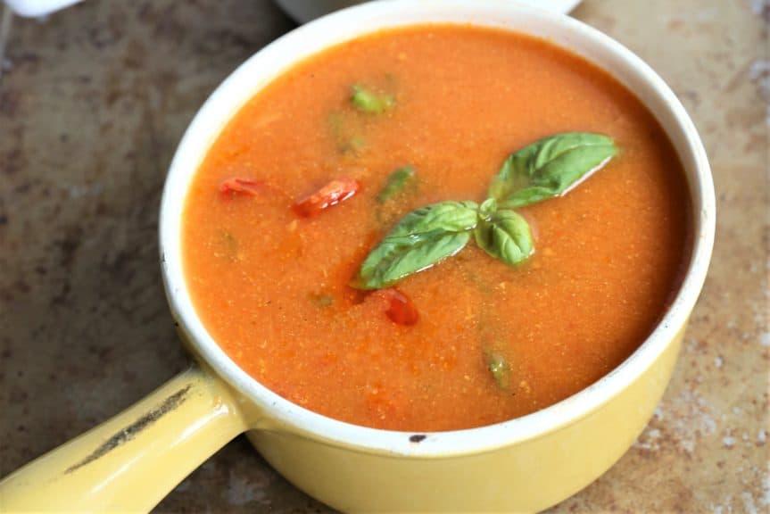 Creamy Tomato Basil Soup Instant Pot