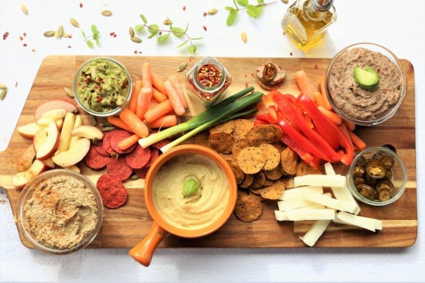 Vegan Dip and Veggie Platter